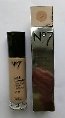 No7 Lift & Luminate Triple Action Serum Foundation SPF15 30ml  Shade: COOL IVORY