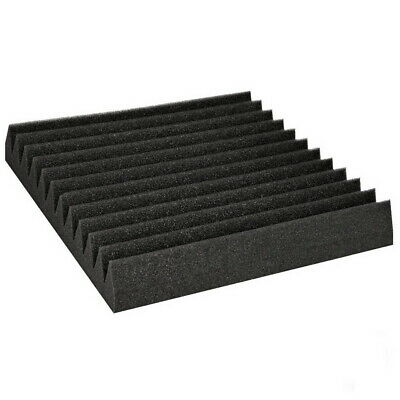 60pcs Studio Acoustic Foam Sound Absorbtion Proofing Panel Wedge 30X30CM Black