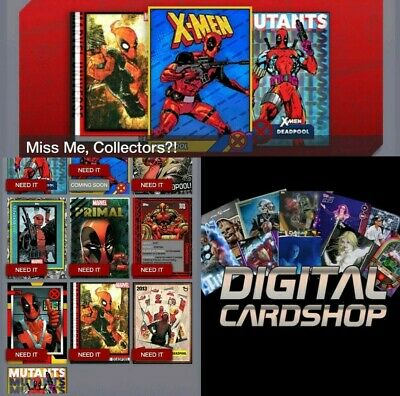 Topps Marvel Collect Card Trader Deadpool Takeover Set of 9 -   Award Ready