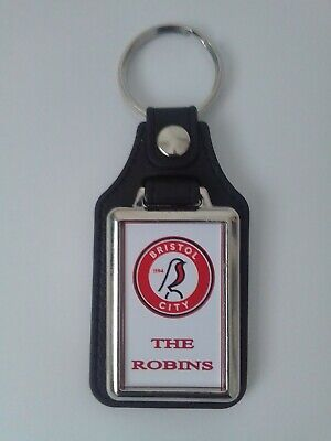 Bristol City leather fob keyring..  Ideal gift