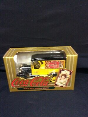 Die-Cast Metal 1923 Coca Cola Delivery Truck Bank Replica Ertl Co. Inc 1993 NOS