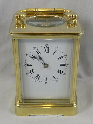 Antique French 8 Day Grande Timepiece Carriage Clock - Fully Cleaned & Serviced