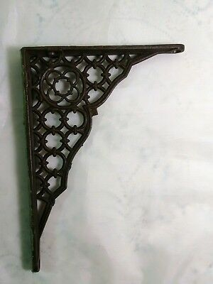 Antique CAST IRON ARCHITECTURAL WALL SHELF BRACKET