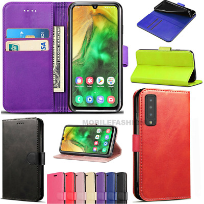 For Samsung Galaxy A20e Premium Luxury Leather Flip Book Wallet Phone Case Cover