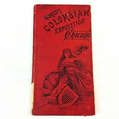 Antique 1893 Worlds Columbian Exposition Chicago Photo Book Printed in Germany