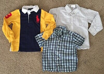 Toddler Boy's Size 3T Ralph Lauren Polo Oshkosh Crazy 8 Dress Shirts EUC!
