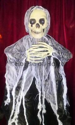 "60"" 5 Foot Poseable Halloween Hanging Ghoul Grim Reaper Monster Zombie Skeleton"