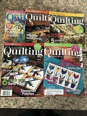 Fons & Porter Love Of Quilting Magazines Lot Of 5