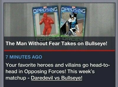 Topps Marvel Collect Card Trader Daredevil vs Bullseye OPPOSING FORCES Tilt