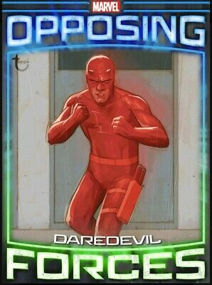 Rare Tilt Opposing Forces Week 3 Daredevil vs Bullseye Topps Marvel Collect