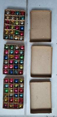 Dollhouse Miniature Christmas Tree Ornament Balls 24x3=72 Made in Japan Vintage