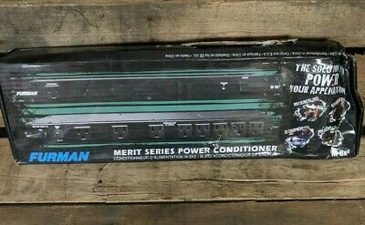 Furman M-8x2 Merit Series 8 Outlet Power Conditioner.  New- (damaged box)