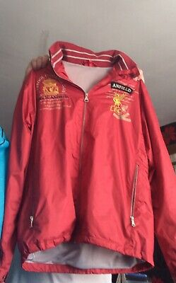 Rare Men's Liverpool football club jacket  xl with badges &you never alone lyric