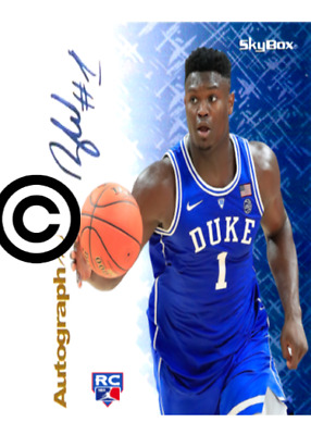 Zion Williamson Rc 2019 Hoops Autographics Preview /50 Rookie Limited To 50