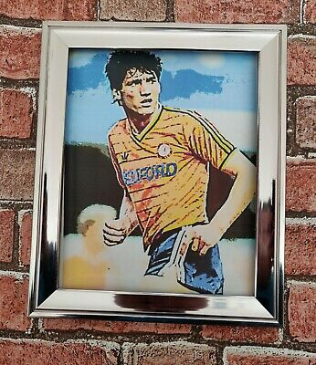 Luton town FC Mick Harford Retro Football Picture Poster Print