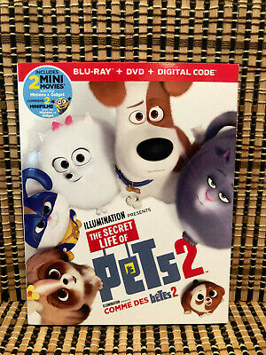 The Secret Life Of Pets 2 (2-Disc Blu-ray/DVD, 2019)+Slipcover.Kevin Hart.Kids