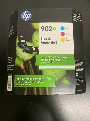 GENUINE HP 902XL Color Inks 3-PACK T0A41BN for OFFICEJET PRO 6954 6968 Apr 2020