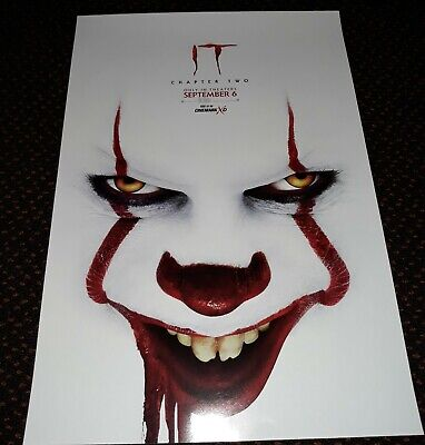 Stephan King  IT Chapter 2 11.5 in x 17 in Original Movie Cinemark Promo Poster