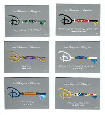 D23 Expo 2019 Disney Store Exclusive Key Card set of 6 Collector Trading Cards