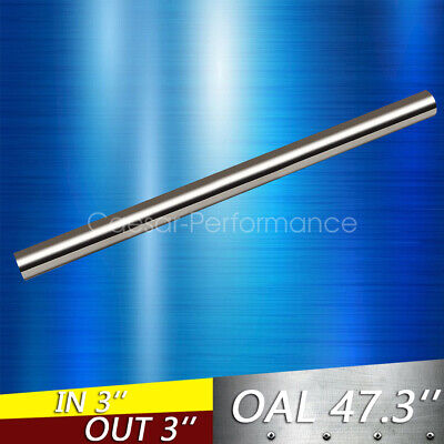 """3/"""" 76mm Straight Exhaust Pipe Tube Piping Tubing T304 Stainless Steel 4 Feet"""