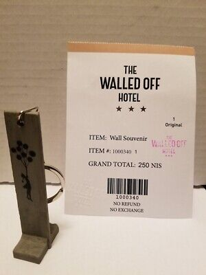 BANKSY Girl with Balloon Wall Key Fob Keychain The Walled Off Hotel Poster +More