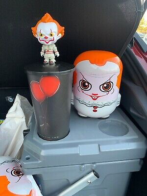 IT Chapter 2 Popcorn Bucket And Bobblehead Cup Topper Super Limited Pennywise