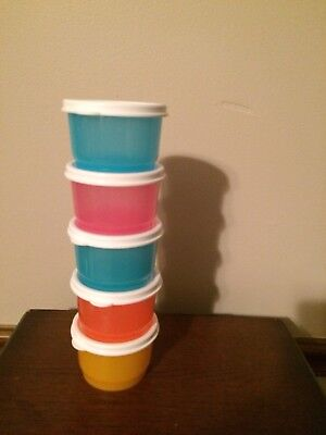 TUPPERWARE New SNACK CUPS set of 5 - 4 oz/120 mL! New