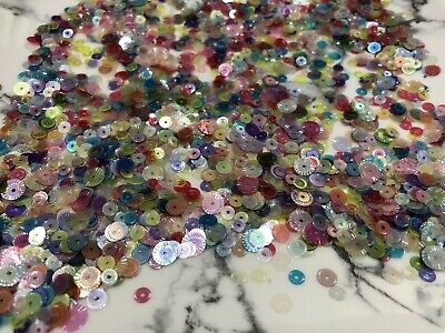 10g Random Mixed Colours&Sizes Sequins Cup Dance Costume Bead Craft Sewing DIY