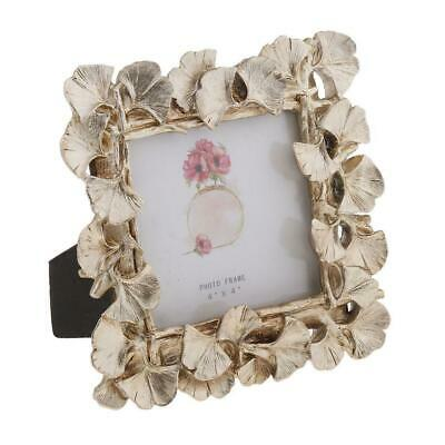 Picture Photo Frame Golden Tabletop Desk Mount Home Office Decor 2 Sizes