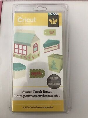 Genuine Cricut Cartridge ~ Sweet Tooth Boxes ~ Brand New Sealed Plastic