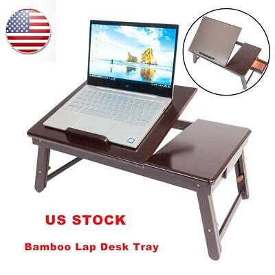 360°Adjustable Laptop Table Stand Lap Sofa Bed Tray Computer Notebook Desk US