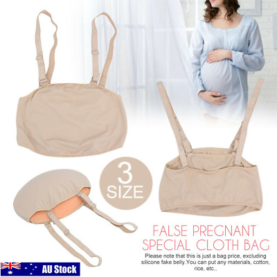 Belly Artificial Baby Tummy Fake Abdomen Pregnancy Pregnant Bump Cloth Bag AU