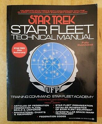 Star Trek Star Fleet Technical Manual 20th Anniversary Edition 1986