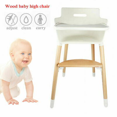 Baby Wooden High Chair Convertible Table Seat Booster Toddler Feeding Highchair