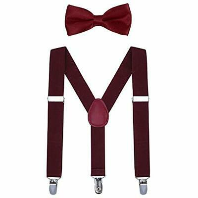 Kids Suspender Bow Tie Sets - Adjustable Braces Bowtie Gift Idea For Boys Girls