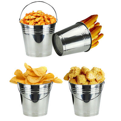 12pc Mini Bucket - Ice Serving  Sweets Wedding Pail Cutlery Plant Pots Holder