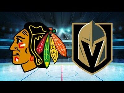 *(2)Tickets Sec 209 Row B Vegas Golden Knights VS Chicago Blackhawks 12/10/19*