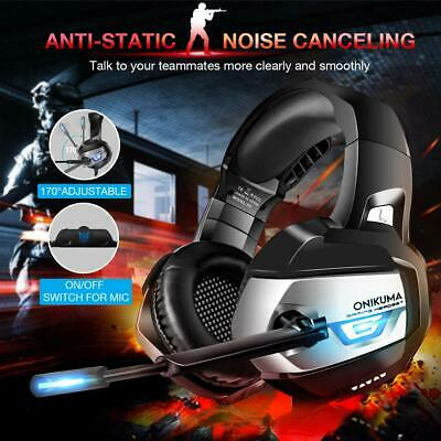 ONIKUMA K5 3.5mm Gaming Headset MIC LED Headphones for PC SW Laptop PS4 Xbox One