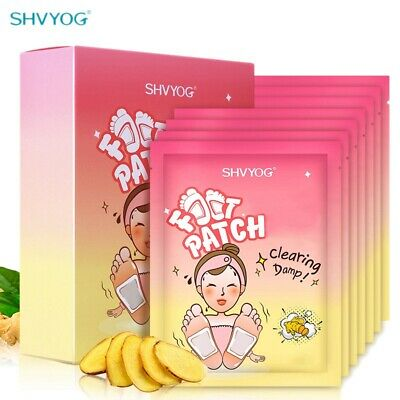 SHVYOG Detox Ginger Foot Patch Pads Body Toxins Feet Care Cleansing Organic I2L2
