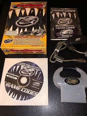 Compete Gameshark GBA for Gameboy Advance SP GBA White w/ Box CD & Cable TESTED