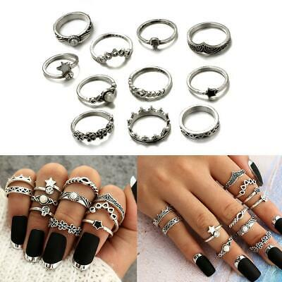 11pcs Alloy Boho Stack Plain Above Knuckle Ring Finger Rings Set Gift 2019hot