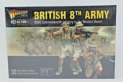 Bolt Action British 8th Army Commonwealth Western Desert Infantry New