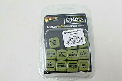 Bolt Action Order Dice ( Green ) New