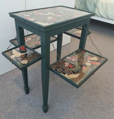 Stunning Unique Antique Drop Leaf Occasional Table (Upcycled/Refurbished)