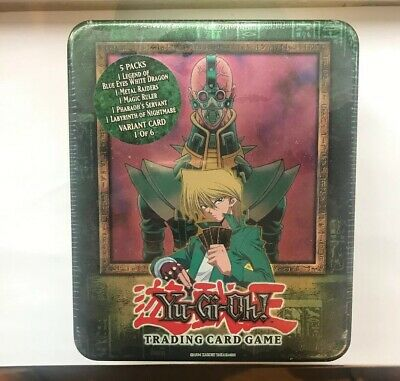 YuGiOh Sealed Jinzo Booster Pack Collectors Tin 2002 Extremley Rare Mint