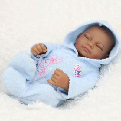 "11"" Full Body Silicone Reborn Baby Sleeping Doll Soft Vinyl Lifelike Newborn Boy"