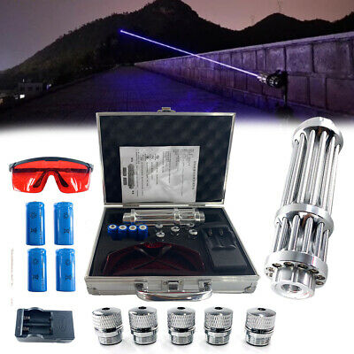 High Power Blue LASER POINTER 450nm Beam VISIBLE High-Powe BURNING Lazer + Box