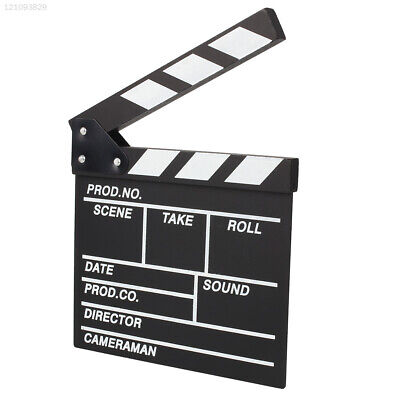 5BA8 8300 Film TVshow Cut Action Wooden Movie Clapboard Theater Party Decoration
