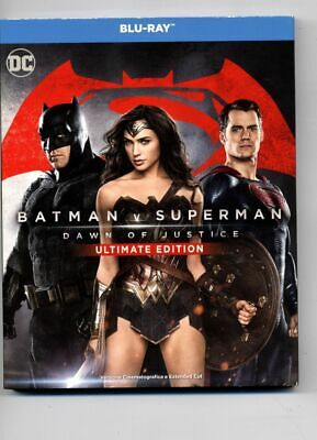 Batman Vs Superman Dawn Of Justice Ultimate Edition Slipcase Blu Ray Extended
