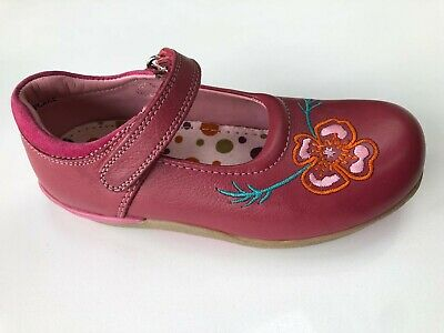 Hush Puppies Cupcake Pink Leather Shoe Size UK 12.5 & Insoles For Width E, F & G